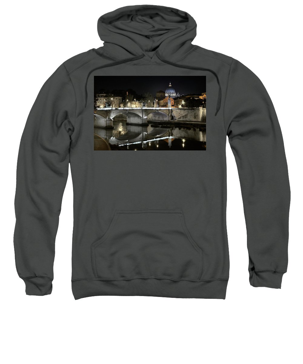 Tranquil Sweatshirt featuring the photograph Tiber's Reflection Of Religion by Scott Hippensteel