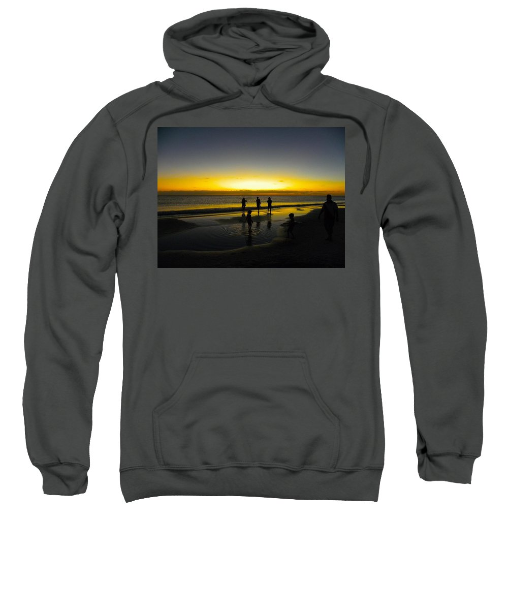 The Gulf Of Mexico Sweatshirt featuring the photograph Tidal Pools by Ric Schafer