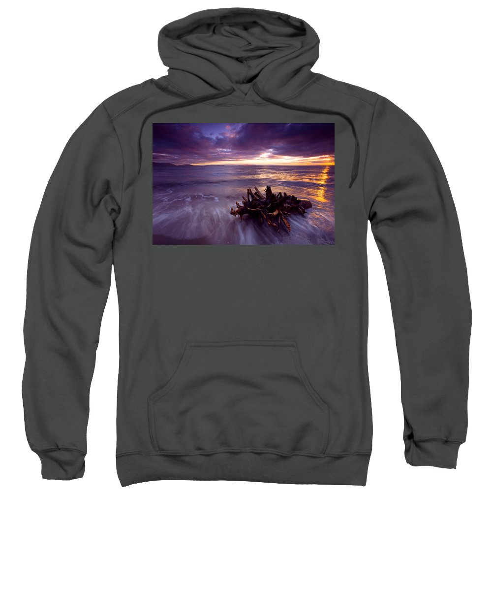 Sunset Sweatshirt featuring the photograph Tide Driven by Mike Dawson