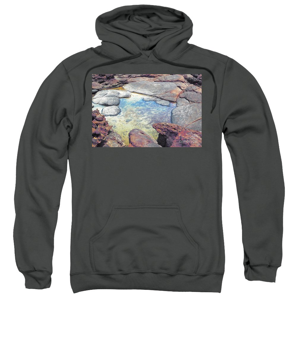 Mouth Of Margaret River Beach Sweatshirt featuring the photograph Tide Pool by Cassandra Buckley