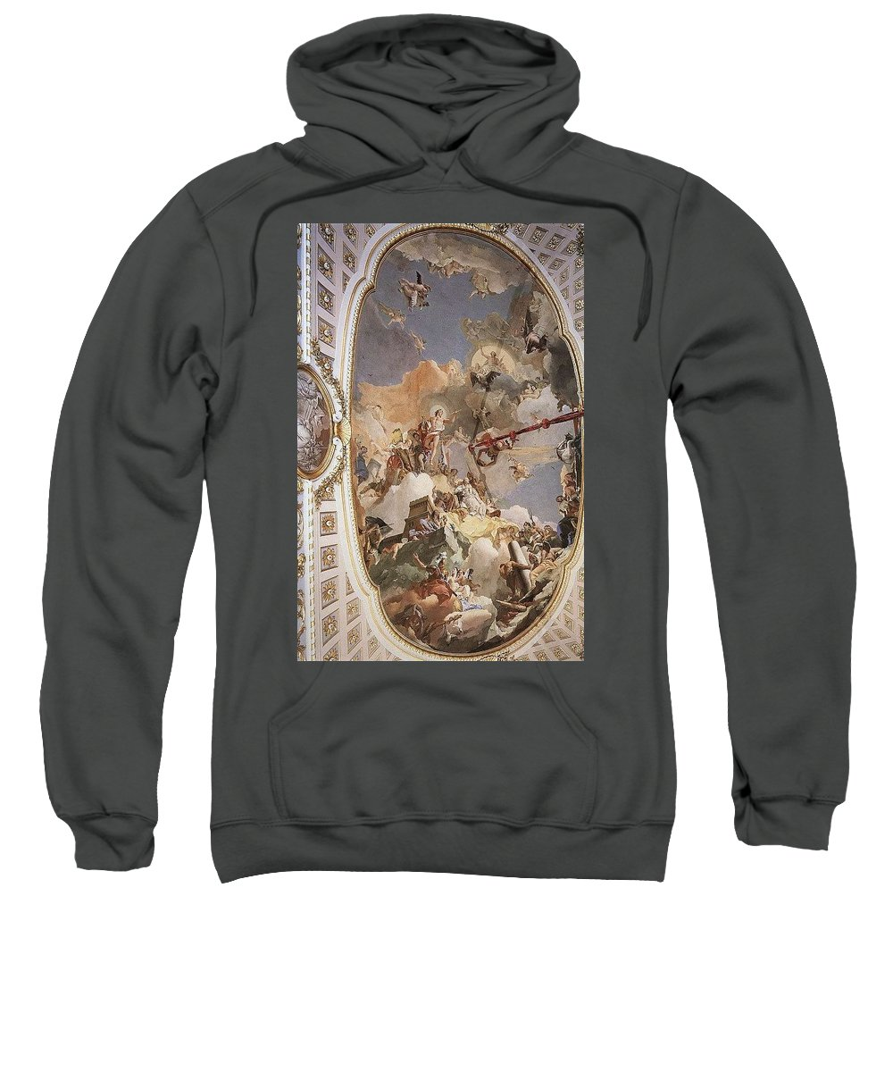 Old Sweatshirt featuring the digital art Tiepolo Palacio Real The Apotheosis Of The Spanish Monarchy Giovanni Battista Tiepolo by Eloisa Mannion