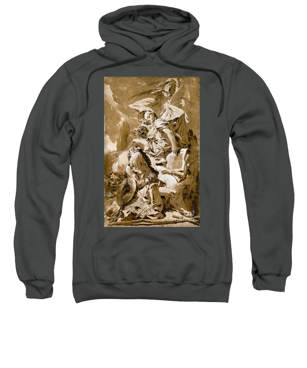 1730s Sweatshirt featuring the painting Tiepolo: Saint Jerome by Granger