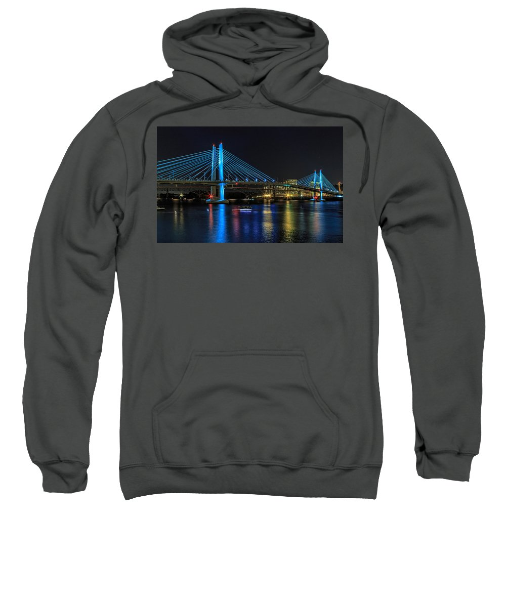 Tilikum Crossing Sweatshirt featuring the photograph Tilikum Crossing by Wes and Dotty Weber