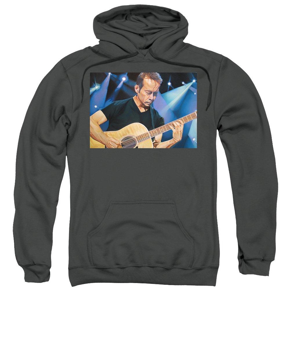 Tim Reynolds Sweatshirt featuring the drawing Tim Reynolds And Lights by Joshua Morton