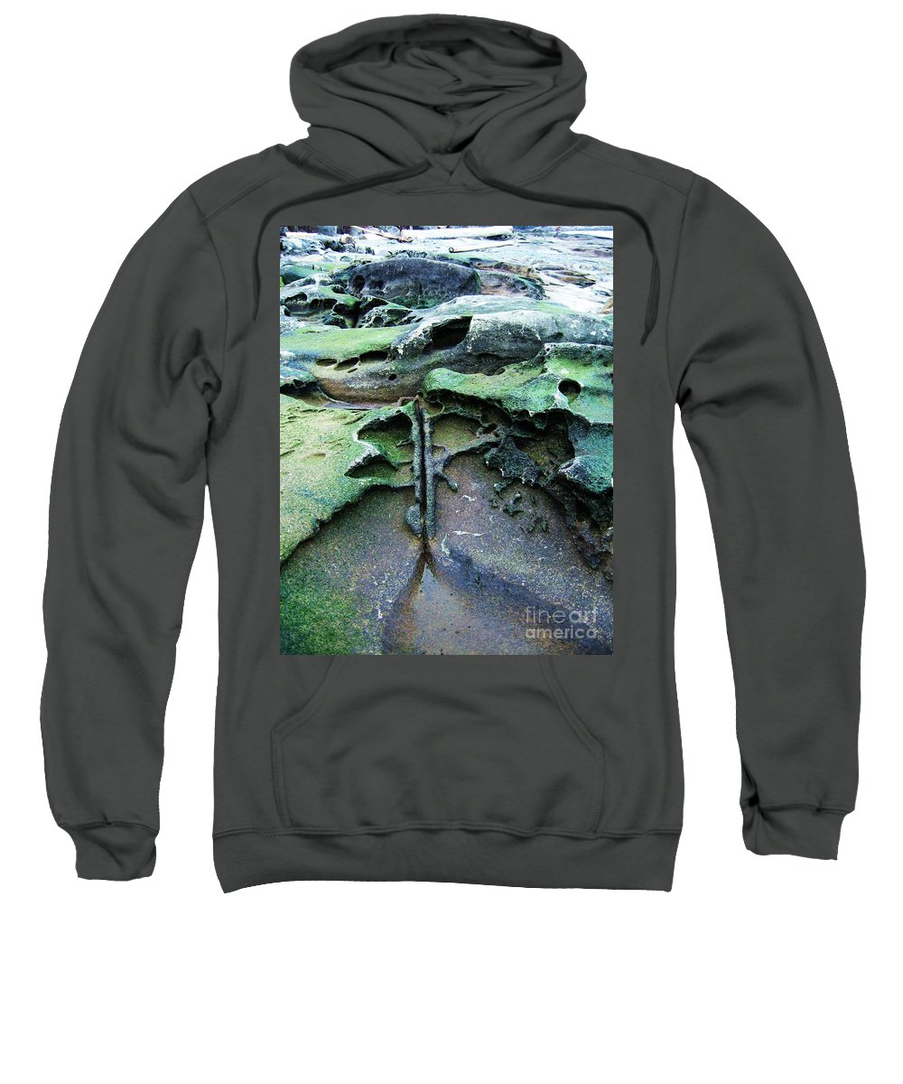 Photograph Rock Beach Ocean Sweatshirt featuring the photograph Time Washed Out by Seon-Jeong Kim