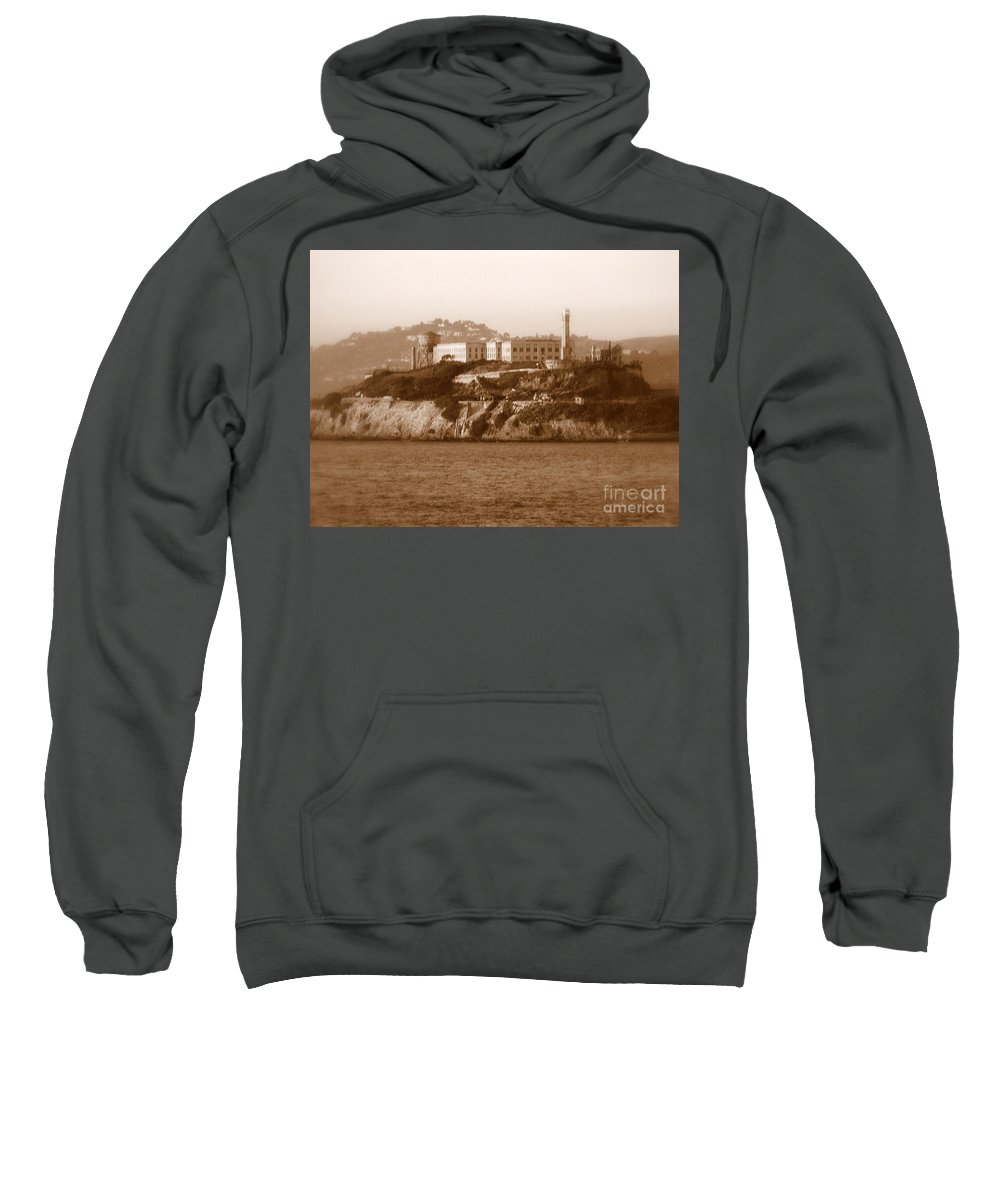 San Francisco Sweatshirt featuring the photograph Timeless Alcatraz by Carol Groenen