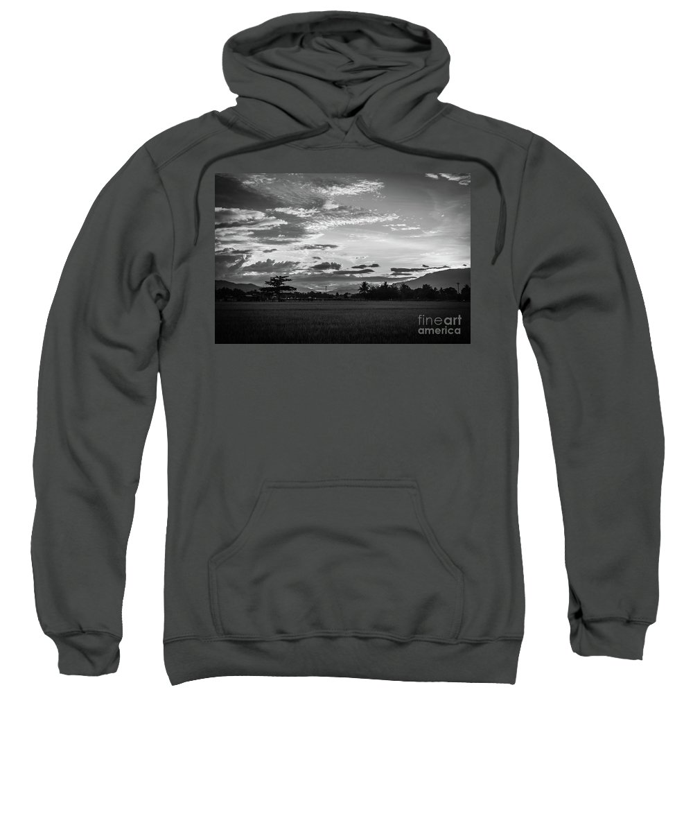 Black And White Sweatshirt featuring the photograph Timeless Sunsets by Donald Carr