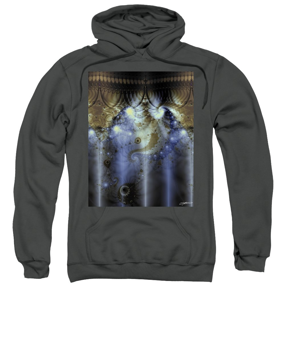 Blue Sweatshirt featuring the digital art Timeline Of History by Casey Kotas