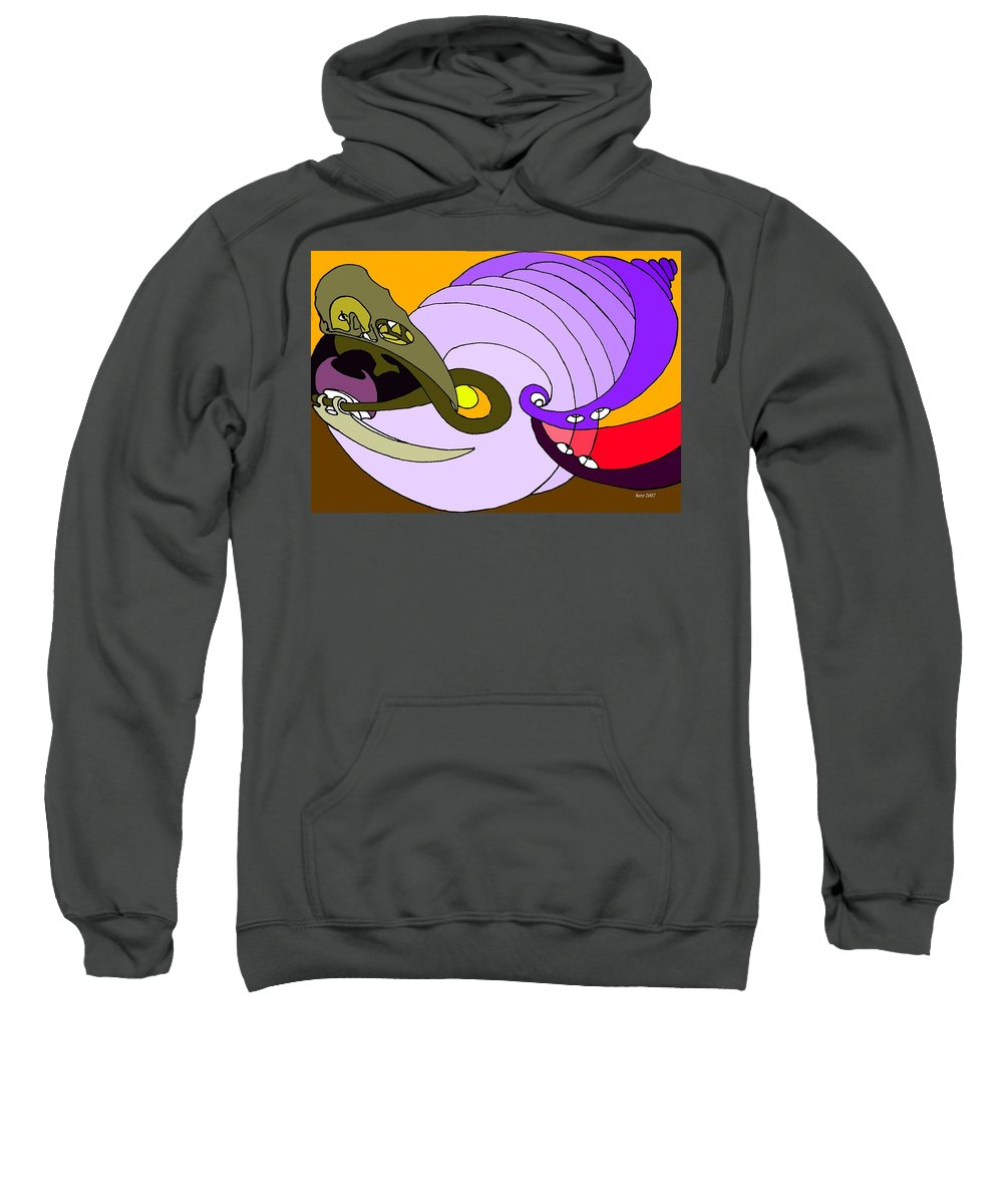 Timespiral Sweatshirt featuring the mixed media Timespiral by Helmut Rottler