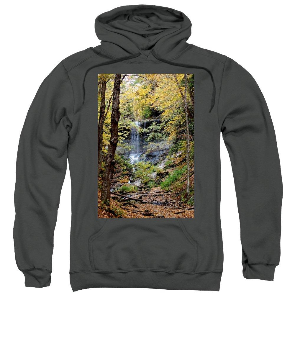 Digital Photograph Sweatshirt featuring the photograph Tinker Falls by David Lane