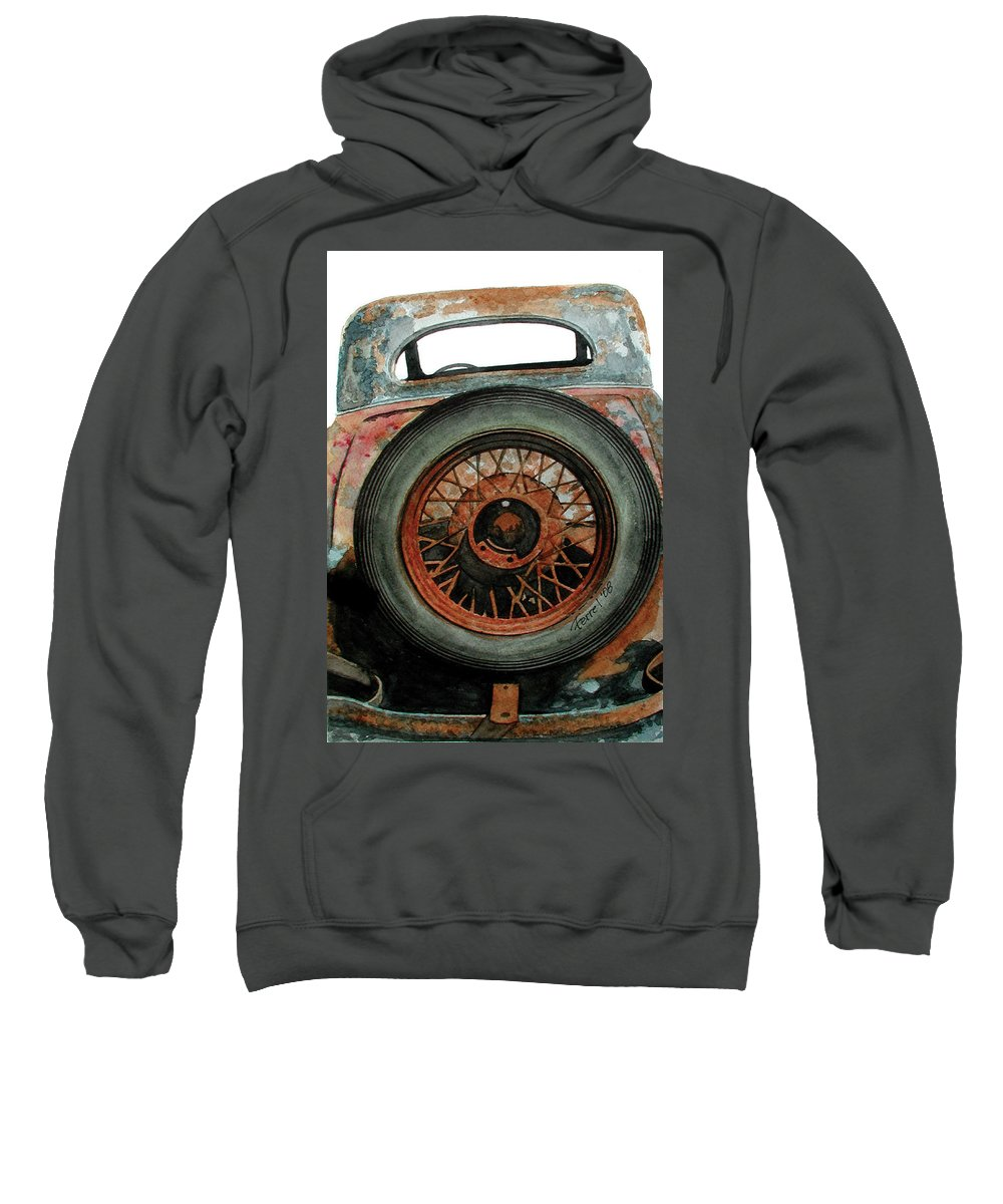 Car Sweatshirt featuring the painting Tired by Ferrel Cordle