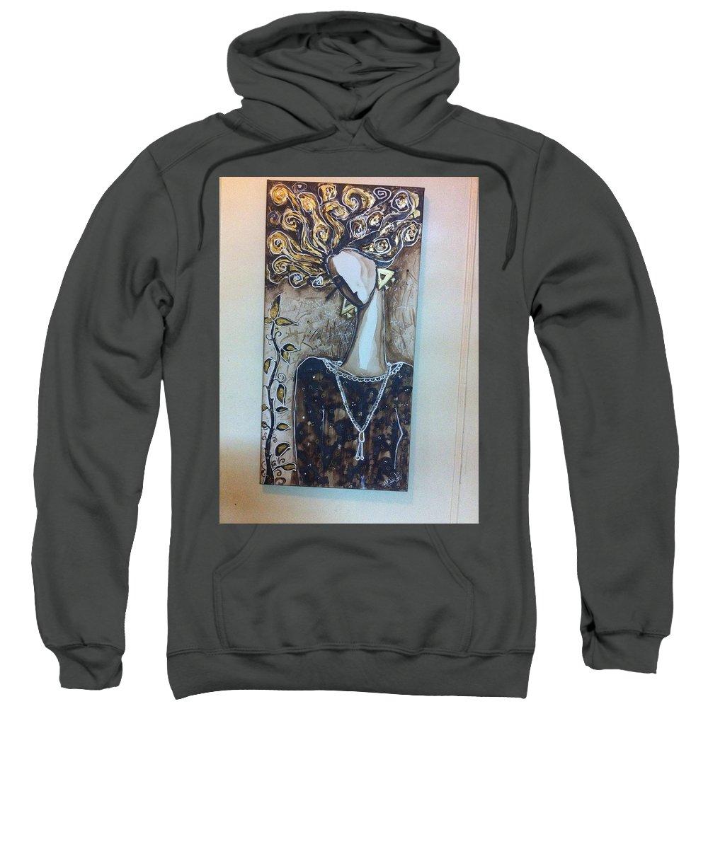 Sweatshirt featuring the painting Tired Wiz Hope by Eman Kutb