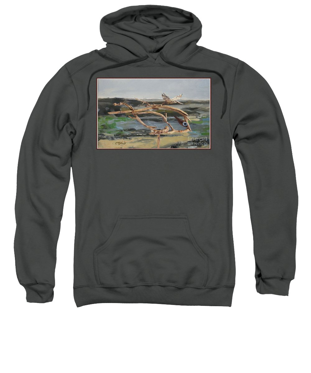 Modern Painting Sweatshirt featuring the mixed media To The Impossible Dream by Pemaro