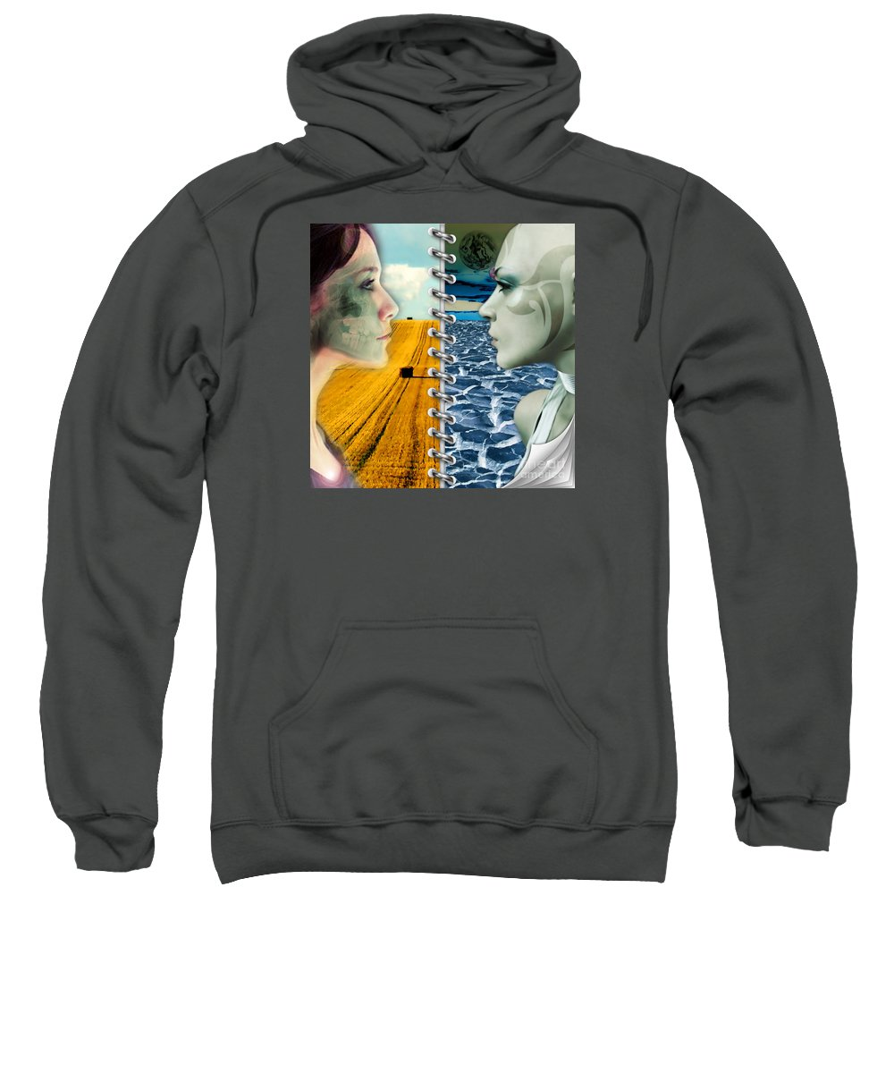 Today Sweatshirt featuring the digital art Today And Tomorrow by Daniela Constantinescu