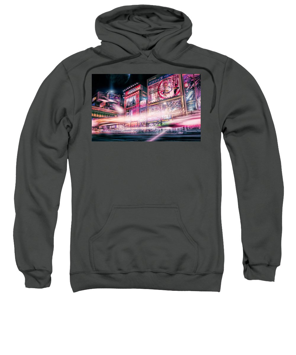 Sci-fi Art Sweatshirt featuring the photograph Tokyo 3017 #2 by Ponte Ryuurui