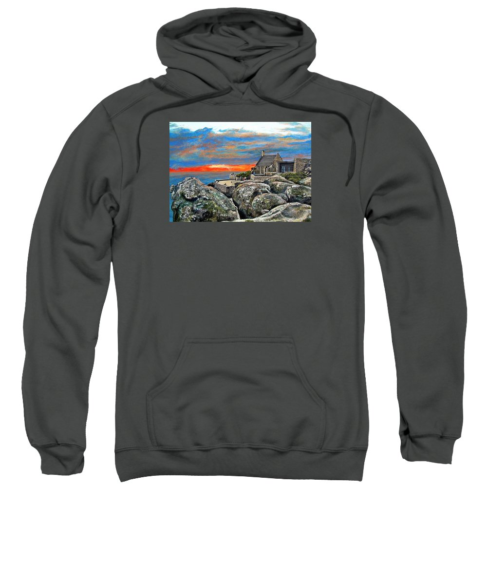 Sunset Sweatshirt featuring the painting Top Of Table Mountain by Michael Durst