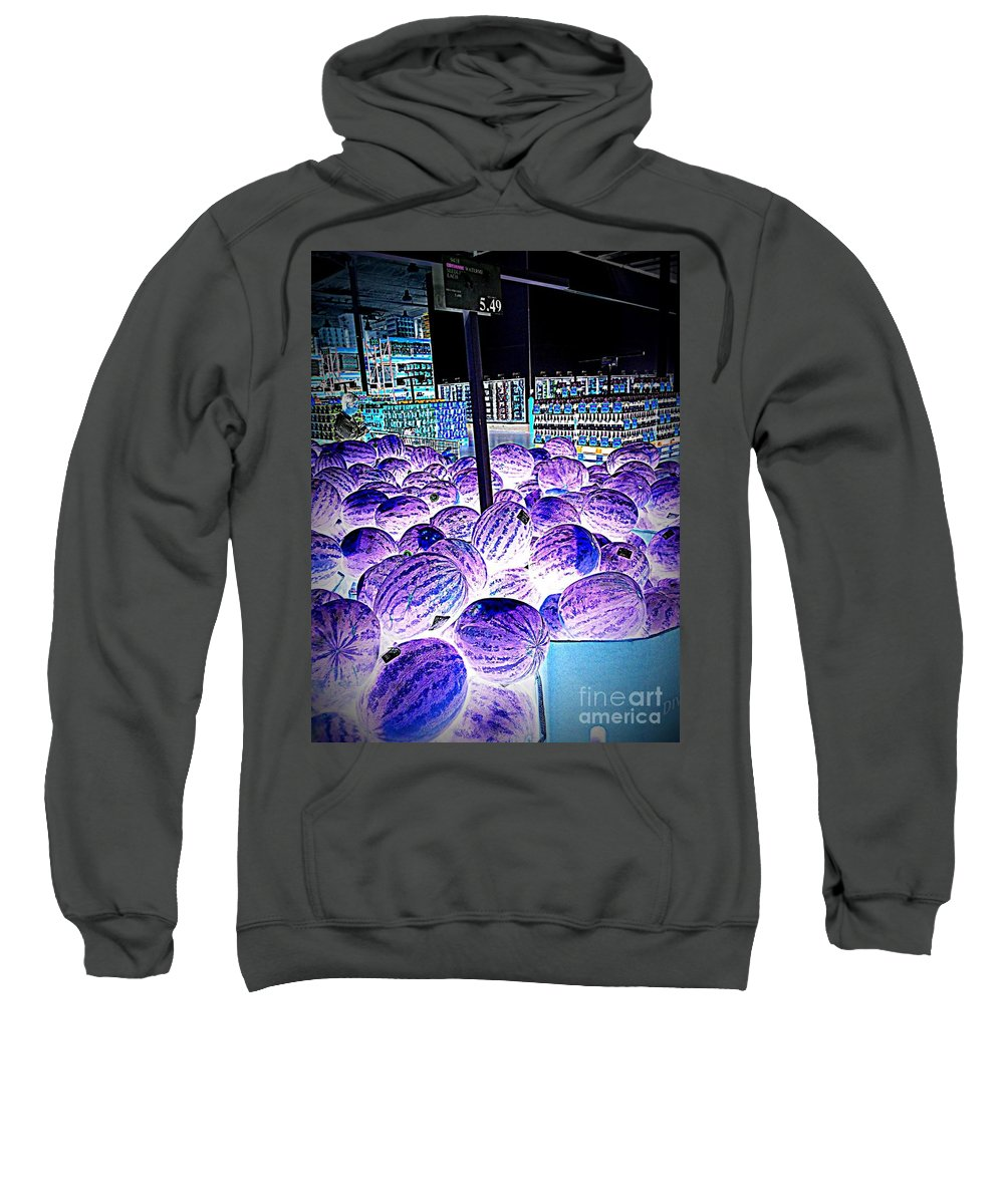 Area 51 Sweatshirt featuring the photograph Top Secret Area 51 Watermelons by Ricardo Richard W Linford