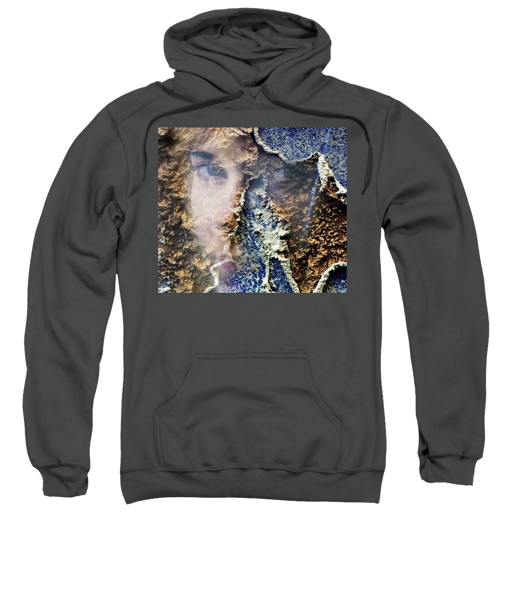 Female Sweatshirt featuring the photograph Torn by Skip Hunt