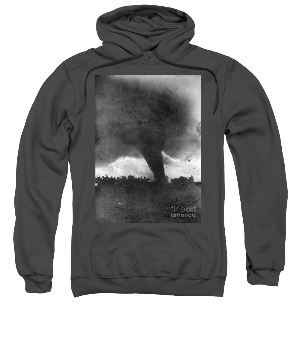 1913 Sweatshirt featuring the photograph Tornado, C1913-1917 by Granger