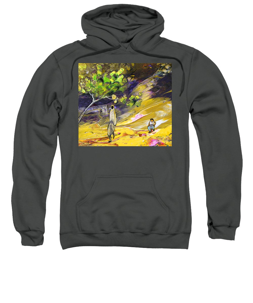 Tornado Sweatshirt featuring the painting Tornado by Miki De Goodaboom