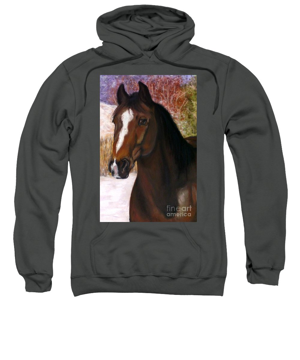 Horse Sweatshirt featuring the painting Toronto by Frances Marino