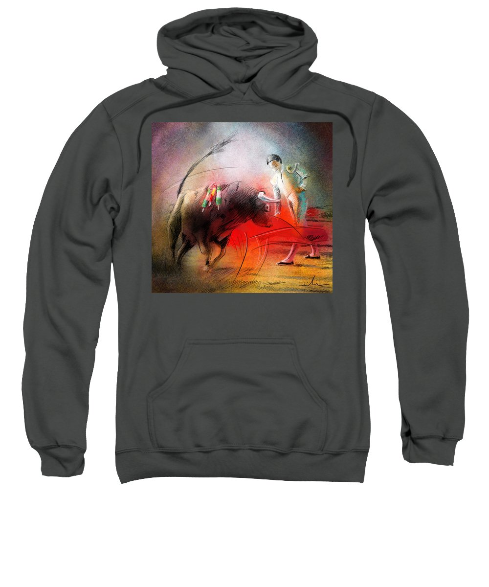 Animals Sweatshirt featuring the painting Toroscape 59 by Miki De Goodaboom
