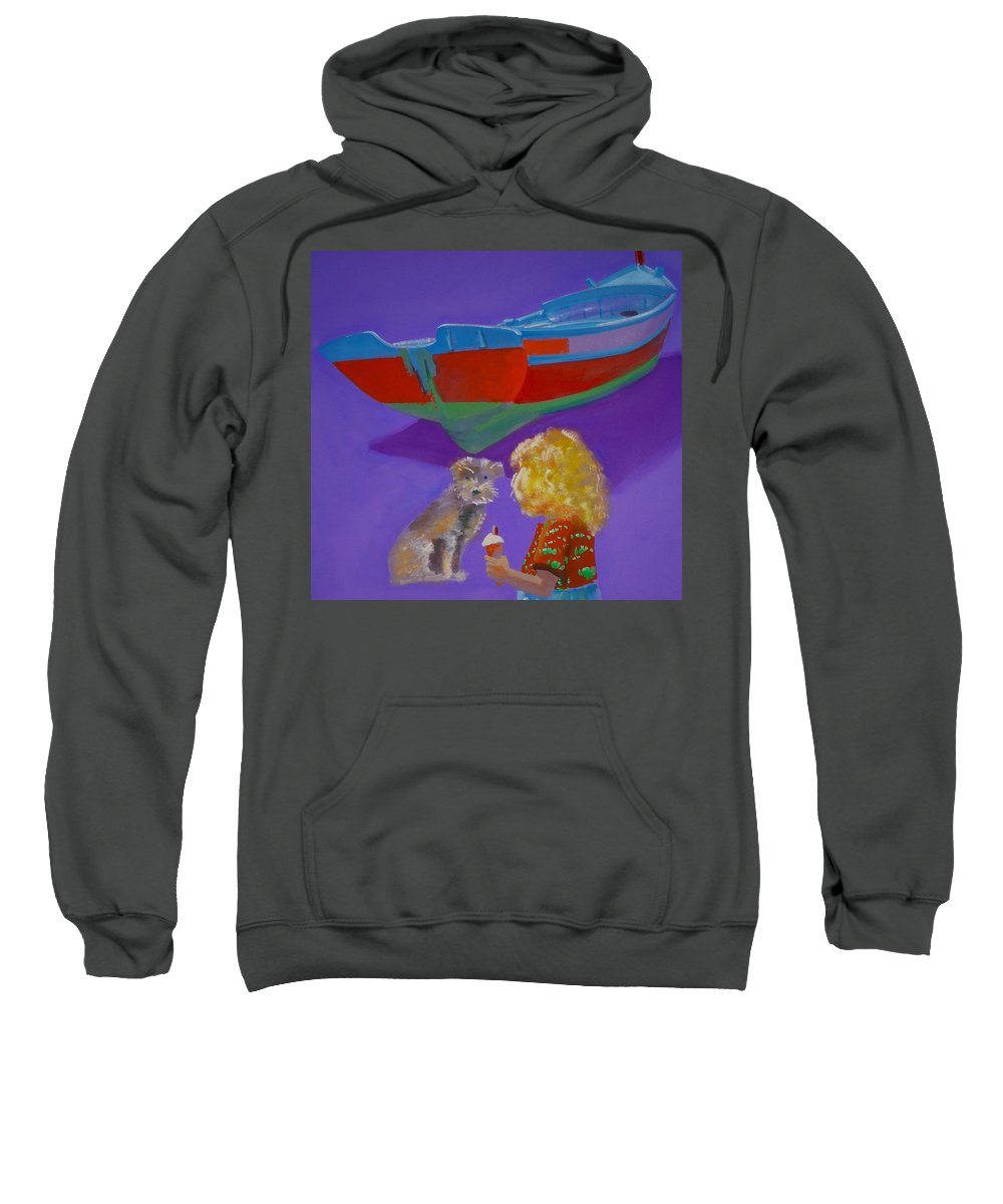Blonde Sweatshirt featuring the painting Toto by Charles Stuart