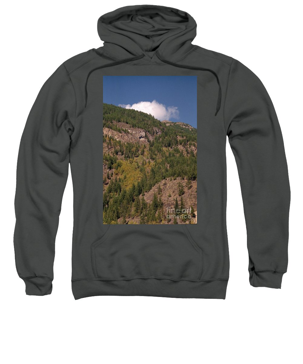 Mountains Sweatshirt featuring the photograph Touching The Clouds by Richard Rizzo