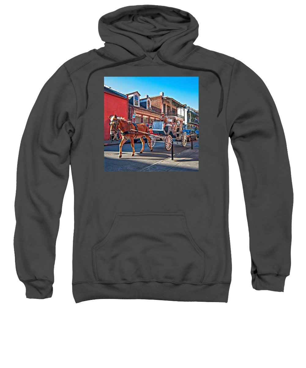 French Quarter Sweatshirt featuring the photograph Touring The French Quarter by Steve Harrington