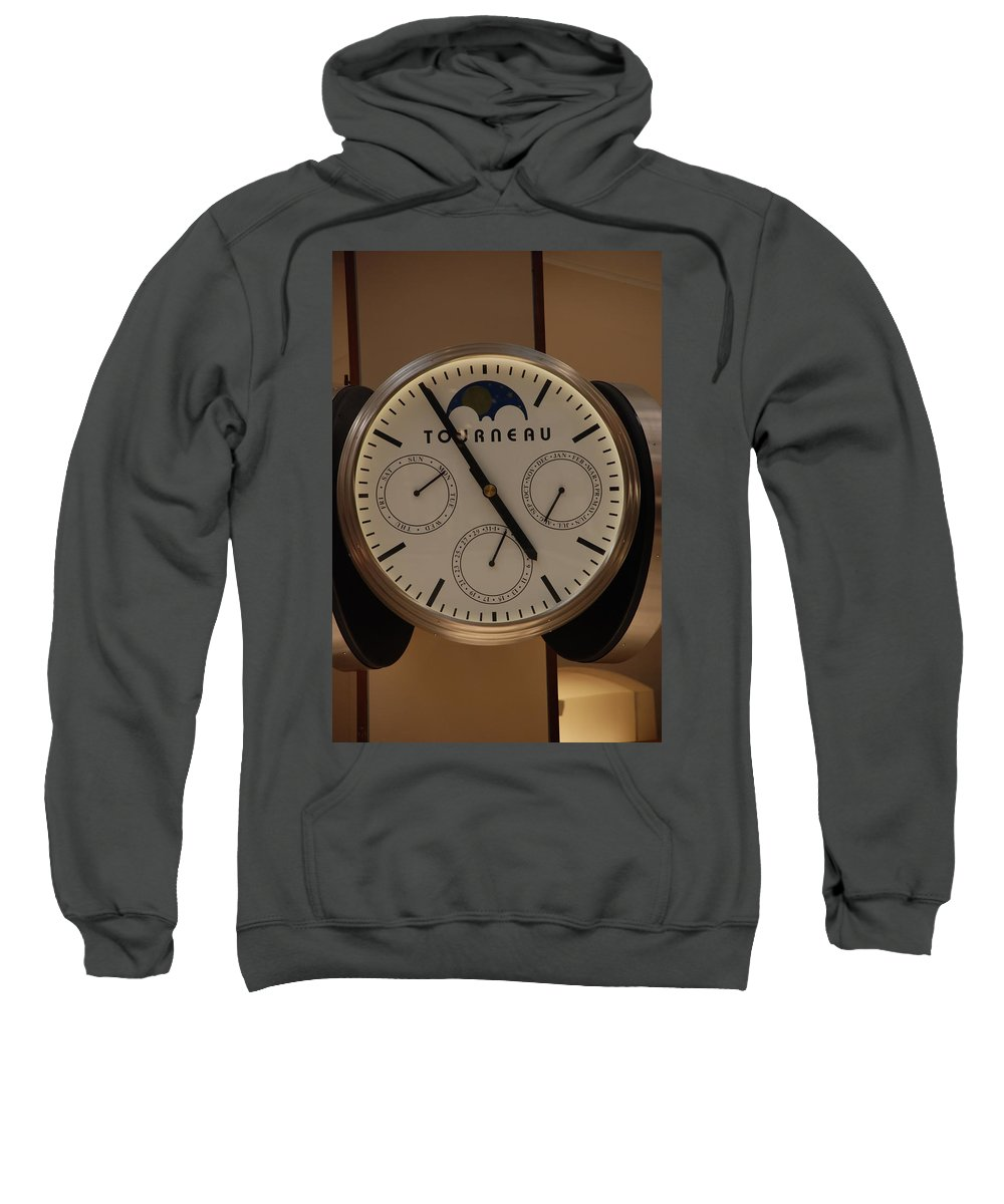 Clock Sweatshirt featuring the photograph Tourneau by Rob Hans