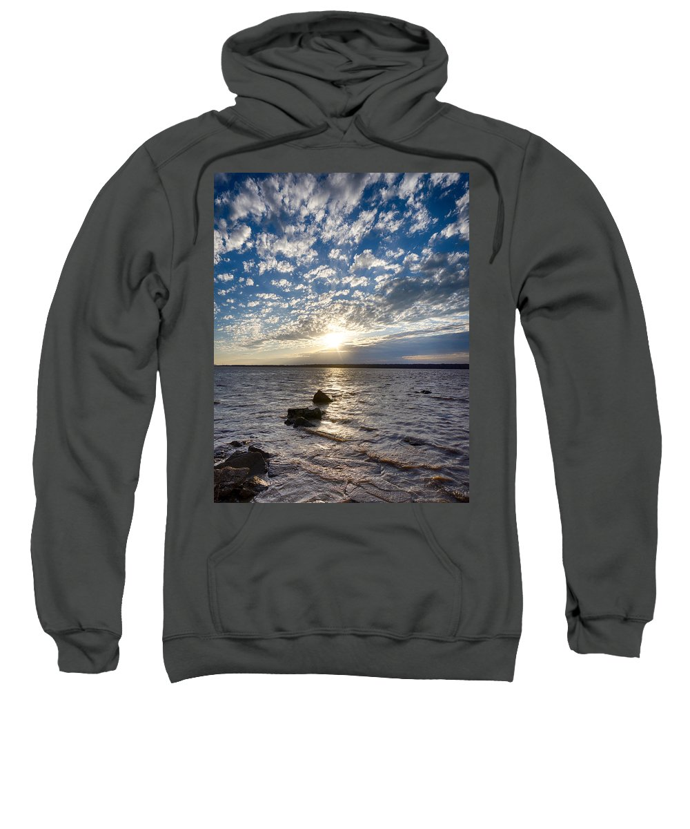 Dramatic Sweatshirt featuring the photograph Toward Sunset by Straublund Photography