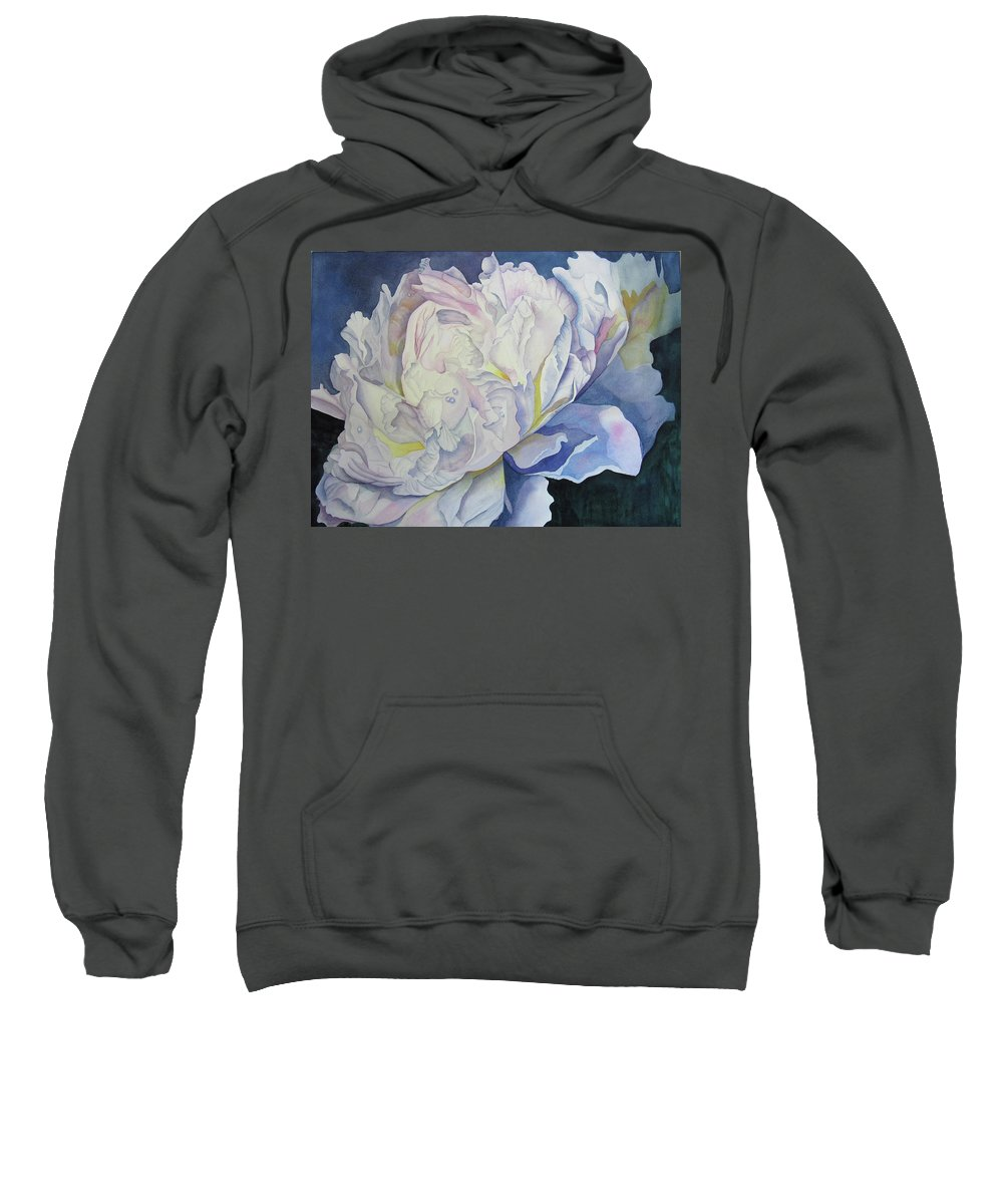 Floral Sweatshirt featuring the painting Toward The Light by Teresa Beyer
