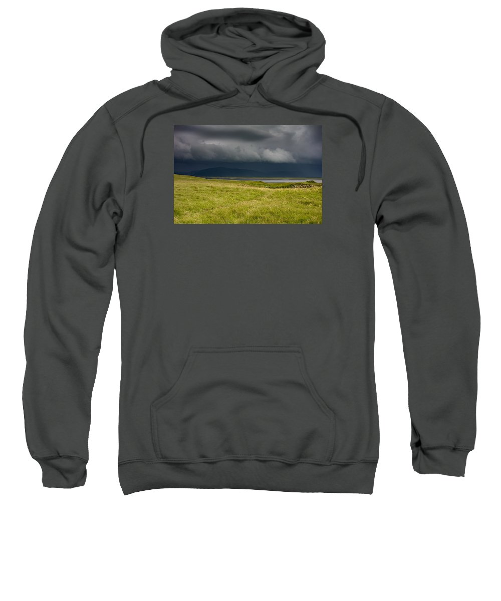 Dyrh�laey Sweatshirt featuring the photograph Towards Vatnajokull by Claudio Bergero