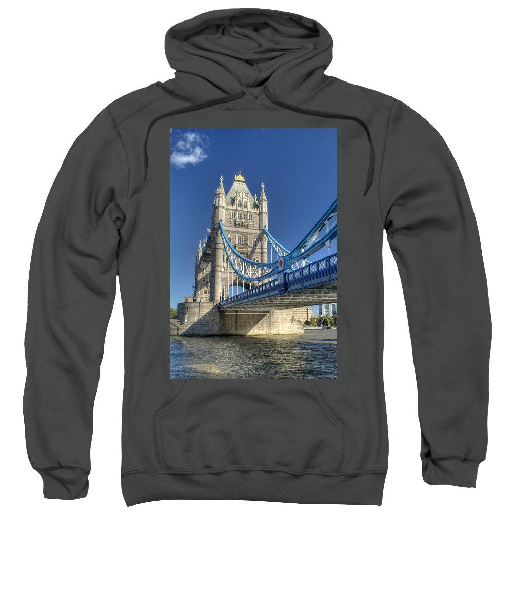 Tower Bridge Sweatshirt featuring the photograph Tower Bridge 2 by Chris Day