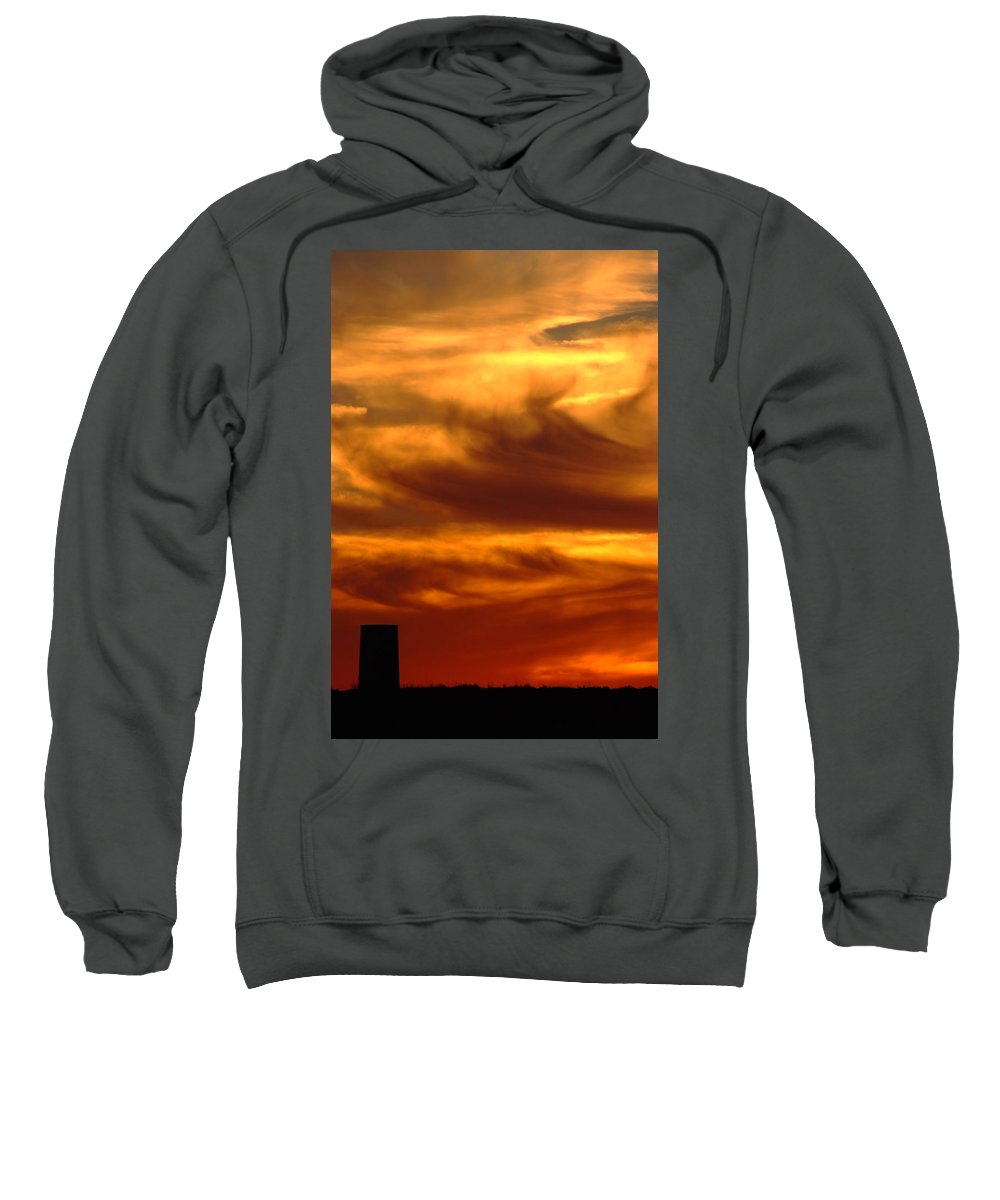 Sunset Sweatshirt featuring the photograph Tower In Sunset by Cliff Norton