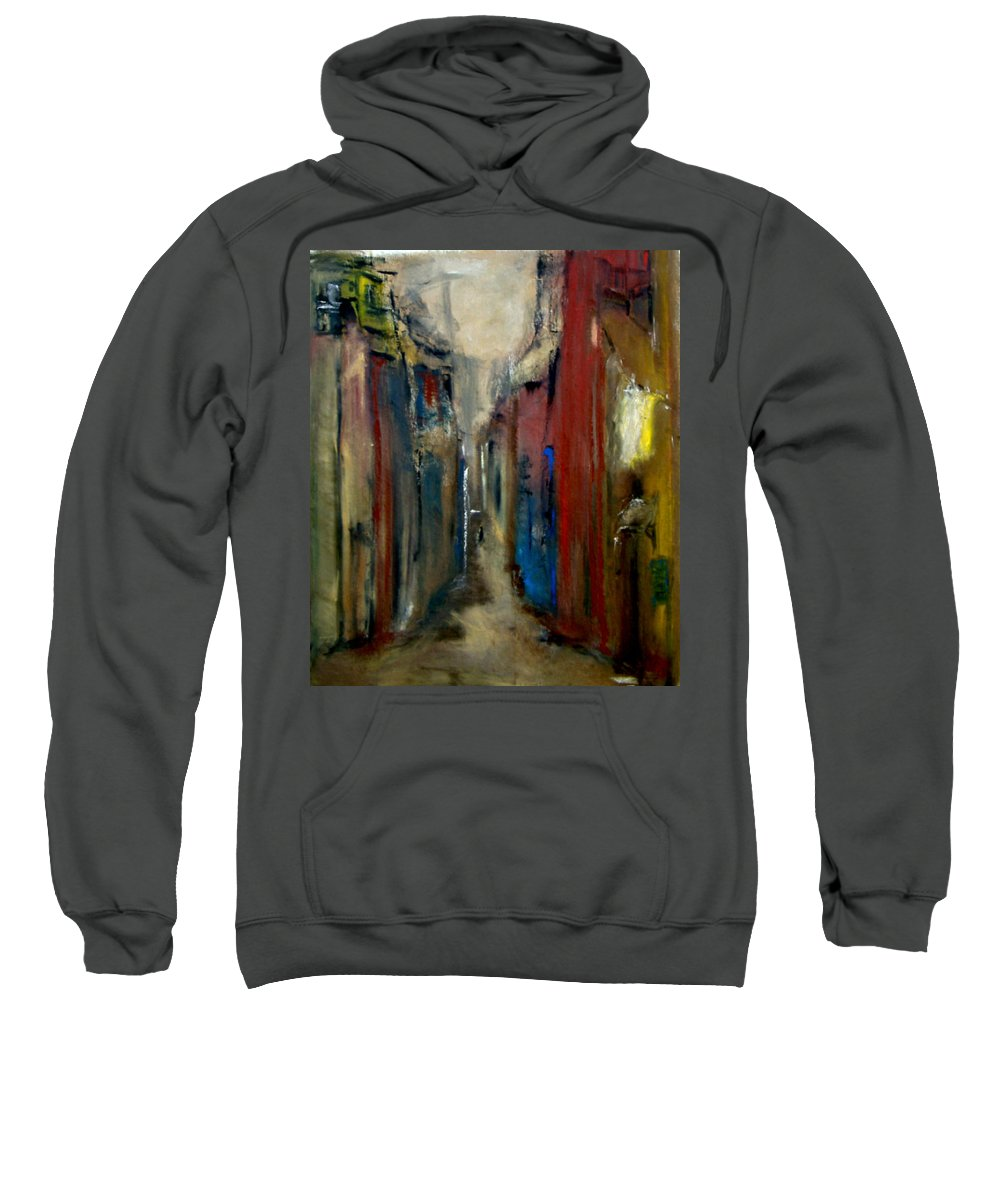 Abstract Sweatshirt featuring the painting Town by Rome Matikonyte