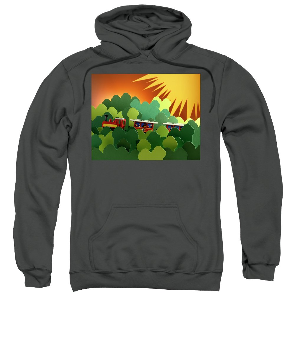 Train Sweatshirt featuring the photograph Toy Train by Stefania Levi