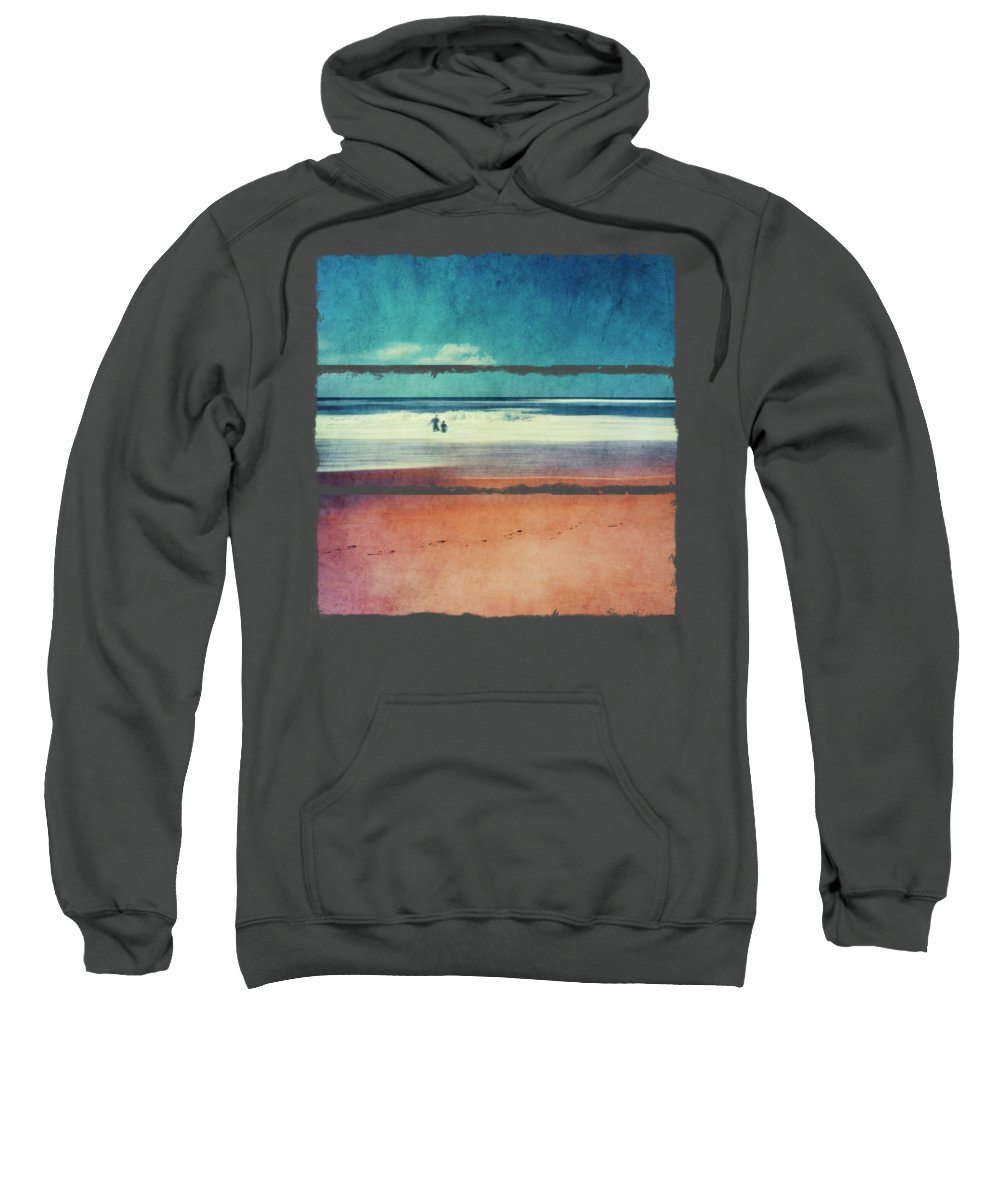 Waves Sweatshirt featuring the photograph Traces In The Sand by Dirk Wuestenhagen