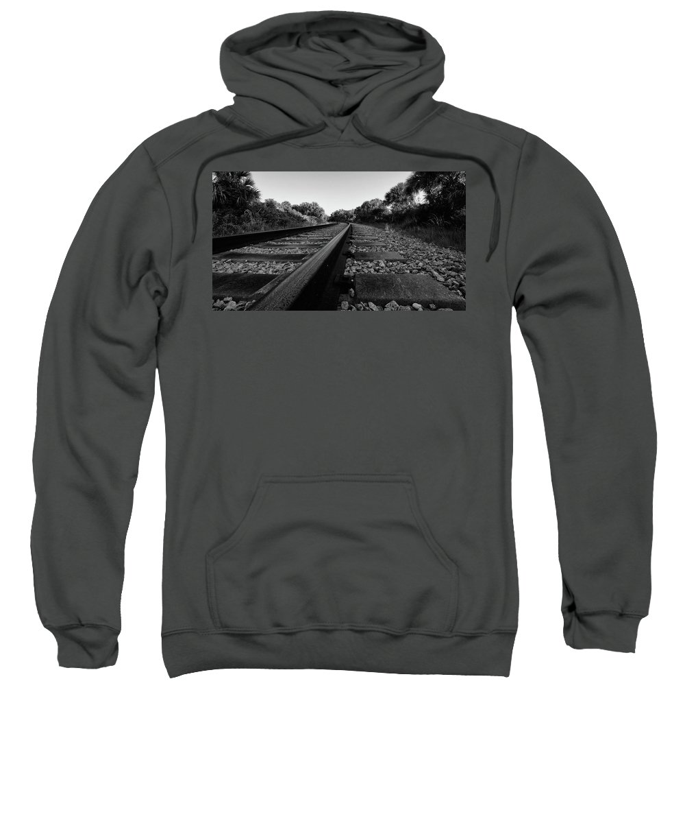 Landscape Sweatshirt featuring the photograph Tracks by Charlie Grindrod