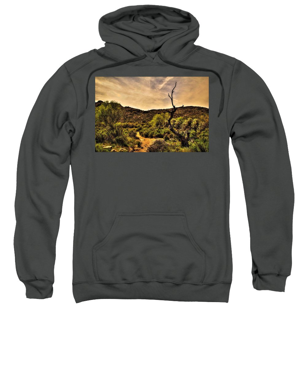 Mesquite Sweatshirt featuring the photograph Trail Guardian No. 2 by Roger Passman