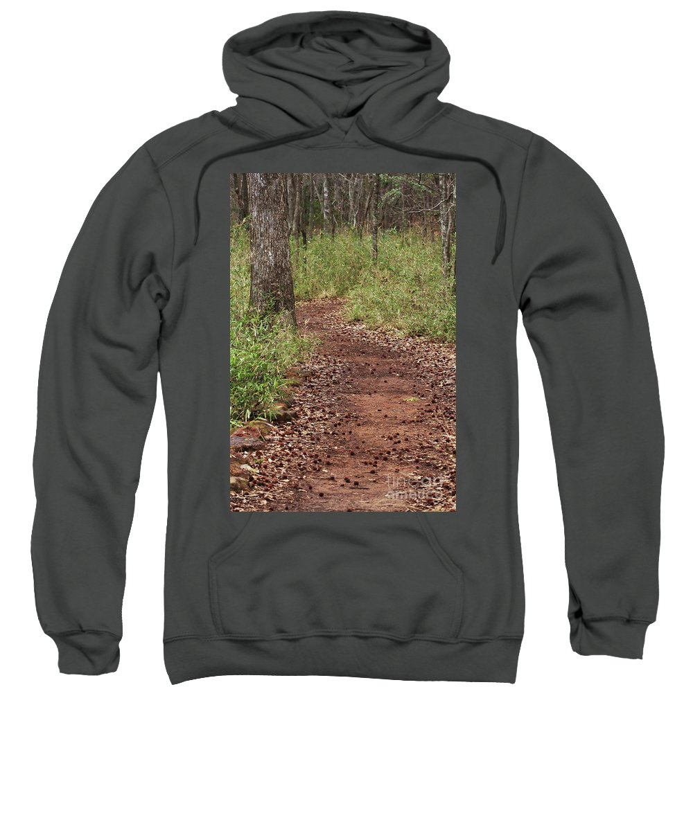Walking Trail Photographs Sweatshirt featuring the photograph Trail To Beauty by Kim Henderson