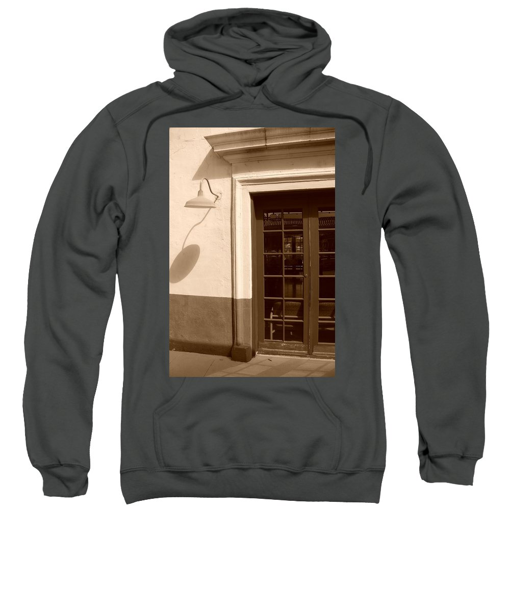 Sepia Sweatshirt featuring the photograph Train Station Of The 40s by Rob Hans