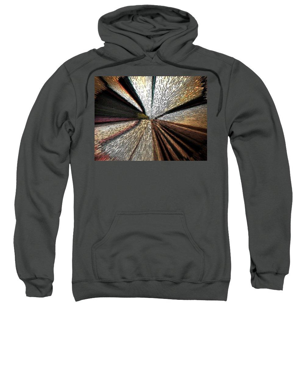 Abstract Sweatshirt featuring the digital art Train Tracks by Lenore Senior