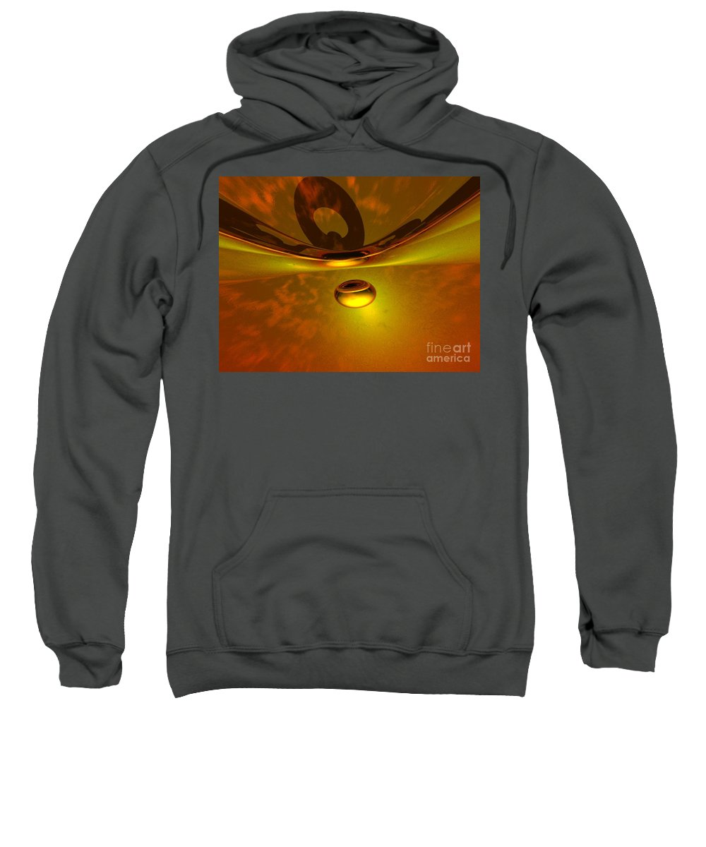 Visionary Sweatshirt featuring the digital art Transcending by Oscar Basurto Carbonell