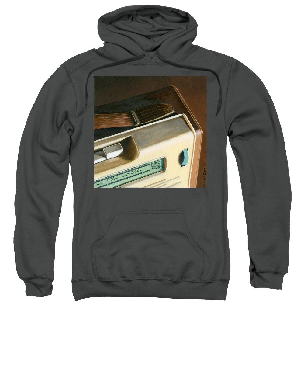Vintage Sweatshirt featuring the painting Transistor Radio by Rob De Vries