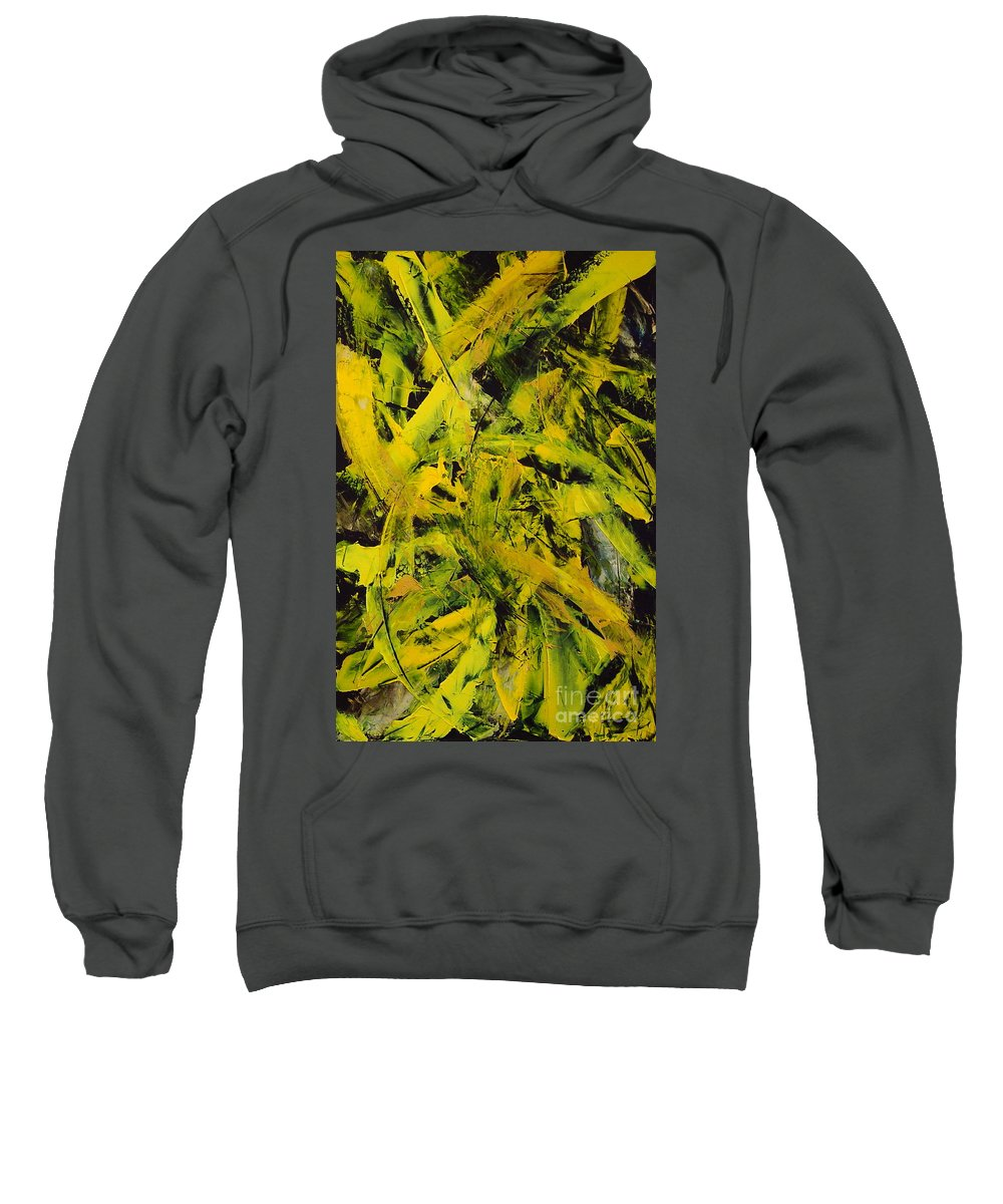 Abstract Sweatshirt featuring the painting Transitions Vi by Dean Triolo
