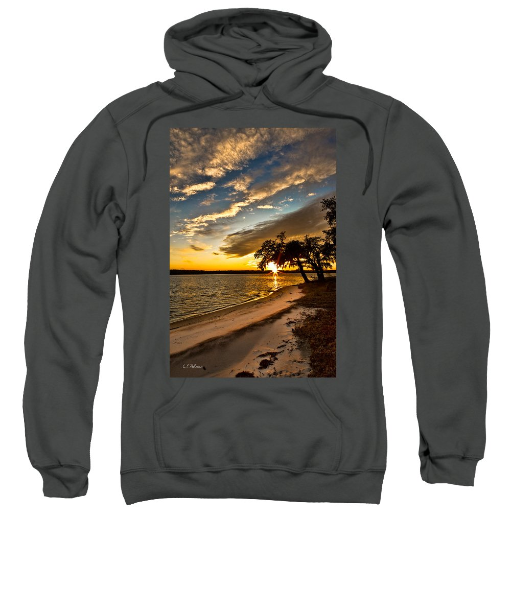 Sunset Sweatshirt featuring the photograph Trapped Sunset by Christopher Holmes