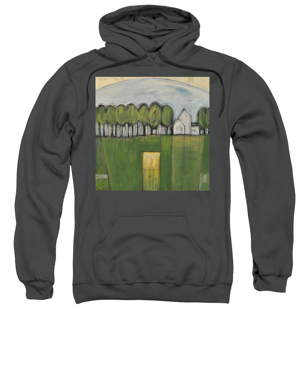 Woods Sweatshirt featuring the painting Treasure In The Yard by Tim Nyberg
