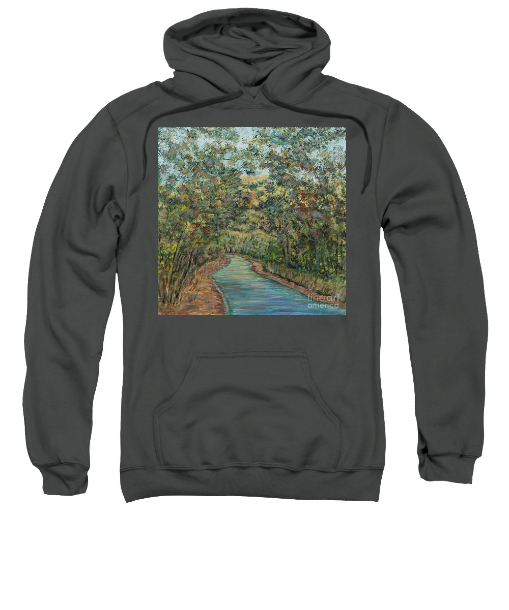 Arched Sweatshirt featuring the painting Tree Arched Road by Nadine Rippelmeyer