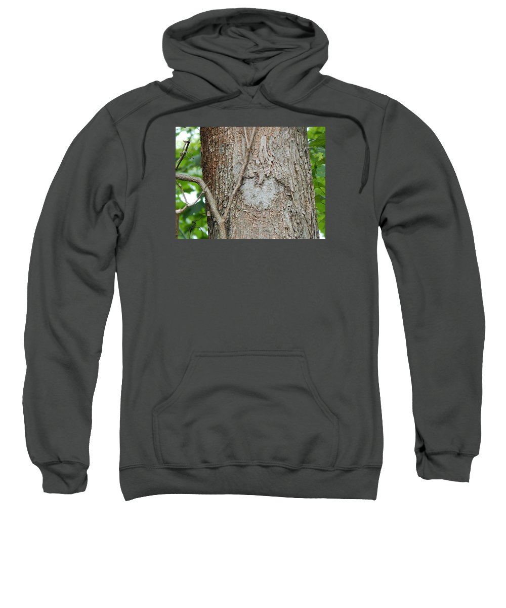 Sweatshirt featuring the photograph Tree Heart by Avery McCullough